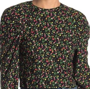 AFRM Spring Garden Printed Puff Sleeve Top NWT